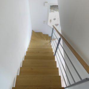 Escalier quart tournant acier thermolaqué