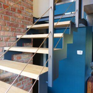 escalier double limon cannelé